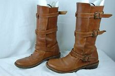 FIORENTINI+ BAKER WOMEN BELTED RIDING BOOTS EU 39 US 9.MADE ITALY