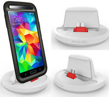 KiDiGi WHITE RUGGED CASE CHARGER SYNC CRADLE USB 3.0 DOCK FOR SAMSUNG GALAXY S5