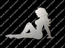 Trucker Girl ST02 Mudflap Nude Naked Sexy Lady Hot Rat Rod Motorcycle Chopper LH