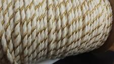"""2 yards natural  gold round cotton twisted cord string  5/16"""" W SHIP FROM USA"""