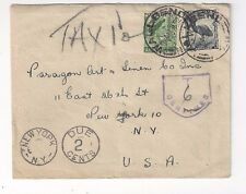 1952 Wallsend Australia to New York Postage Due
