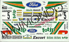 DECALS FORD ESCORT RS2000 TOTIP RALLY DELLA MARCA 1996 RUSSO 1/43 RACING43