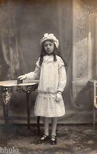 BM039 Carte Photo vintage card RPPC Enfant jeune fille mode fashion studio
