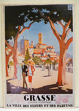 CPM REPRODUCTION AFFICHE ANCIENNE / GRASSE / R. BRODERS