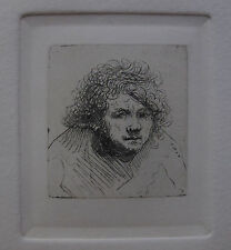 REMBRANDT Amand Durand Etching SELF PORTRAIT LEANING FORWARD