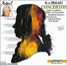 CD W.A. Mozart: Concertos Oboe, Clarinet, Horn, Flute, and Harp