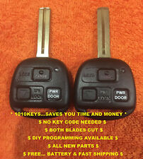 PRE-CUT EASY DIY PROGRAM 3 BUTTON FOB REMOTE KEY w/ PWR DOOR Listed models 04-2