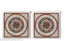 Rosone Mosaico Marmo su Rete 66,6 x 66,6 Pezzi Unici Pavimenti Rivestimenti