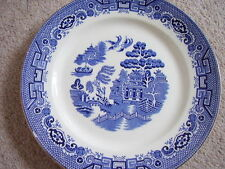 Burslem England porcelain blue and white plate-dish,Willow