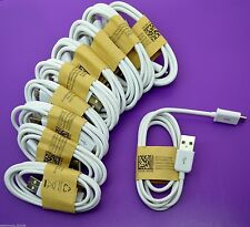 10x Wholesale Lot of White Micro USB Cable Charger Cord to Charge Samsung Galaxy
