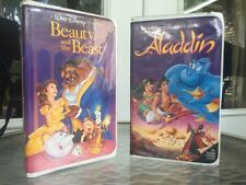 Beauty and the Beast #1325 & Aladdin #1662 Black Diamond Classics VHStapes(1992)