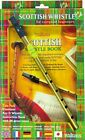WALTONS SCOTTISH TIN PENNY WHISTLE TWIN PACK - BOOK + D WHISTLE 08AWAL-1537