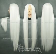 Fashion New COS WIG New long Cosplay White Straight Wig 100cm