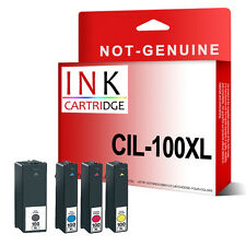 4 Inks For Lexmark Genesis S815 Interact S606 014N1068E/69E/70E/71E NO.100XL
