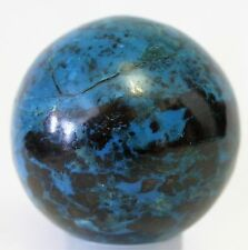 GORGEOUS CHRYSOCOLLA STONE w/ MALACHITE & CUPRITE OCCURRENCE CARVED AS A SPHERE