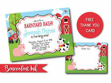Printable Farm Theme Birthday Invitation Customizable