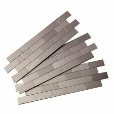 Aspect A95-50 Peel and Stick Backsplash Subway Metal Tile for Kitchen and Bathro
