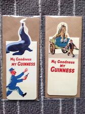2 Magnetic BOOKMARKS My Goodness My Guinness Retro Advertising SEAL & HORSE
