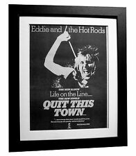 EDDIE & HOT RODS+Life Line+Quit+POSTER+AD+FRAMED+ORIGINAL 1977+FAST GLOBAL SHIP