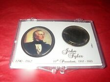 "U S PRESIDENTIAL ""GOLD"" DOLLAR COIN 10 th PRESIDENT JOHN TYLER COLLECTOR CASE"