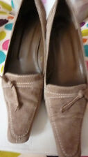 L K LK Bennett TAUPE BROWN UK 6.5 39.5 39 1/2 Suede Leather Shoes Courts RARE!!!