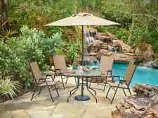 Patio Dining Set Outdoor Furniture Chairs Table Umbrella Folding Deck 6 Piece