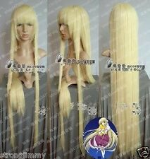 Hot Sell ! Chobits Cosplay Long Light Blonde Straight Wigs 100cm W23