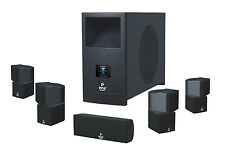 """NEW 5.1 Dual Cube Speaker Surround Sound Theater Set.w 10"""" Powered Subwoofer."""