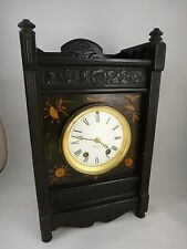 "Mantel Clock - Herter Bros.?, c. 1875. Aesthetic Movement, 14"" x8 ½""x5""."