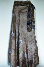 NEW  INDIAN SILK REVERSIBLE DOUBLE LAYER WRAP SKIRT/DRESS WEAR 100 WAYS!