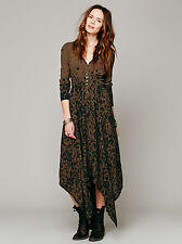 New FREE PEOPLE Lavina Midi Dress Size Medium - Green