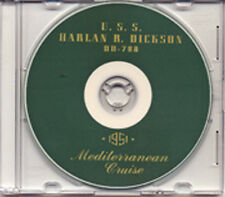 USS Harlan R Dickson DD 708 1951 Med Cruise Book CD