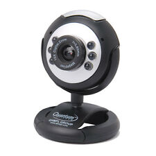 Quantum PC Web Cam 25 MP USB 6 LED Lights Night Vision Camera Mic Chat QHM 495LM