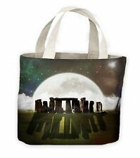 Stonehenge Moon Tote Shopping Bag For Life _ Pagan Wicca Druid Festival