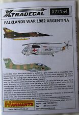 Xtradecal 1/72 X72154 guerre des malouines 1982, argentine aircraft decal set