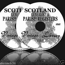 SCOTLAND Genealogy Parish Registers History 330 Ebooks on 2 DVDs