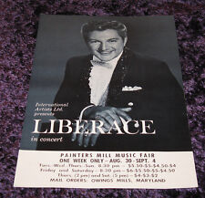 1970s LIBERACE at Painters Mill, Maryland Music Fair - Flyer Handout