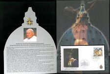 VATICANO SEDE VACANTE 2005 - FOLDER CON FDC = MORTE GIOVANNI PAOLO II