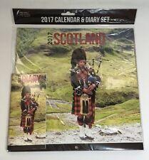 2017 Square Wall Calendar & Diary Set Scotland