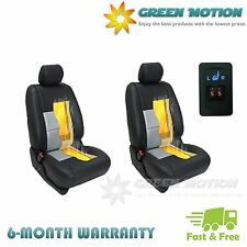 Universal Heated Pad Carbon Fiber Seat Heater 2-dial 5-level Switch Kit 2 Seats