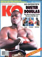 BUSTER DOUGLAS KO Boxing Magazine Sept 1990 HECTOR MAHCO CAMACHO Poster