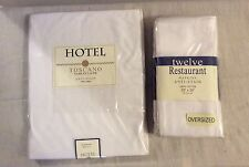 "Hotel 100% Cotton WHITE 70 X 70"" Round Tablecloth & Oversized Napkins NEW"