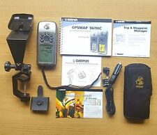 Garmin GPSMAP 96 Atlantic aviation Marine GPS with Yoke ,Manual & Leads