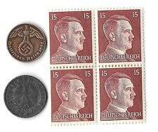 Rare Old Antique Vintage WWII Nazi Germany Coin Hitler Stamp Collection War Lot