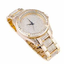 Men's Gold Plated Diamante simulato HIP HOP RAPPER Cinturino XL Bling
