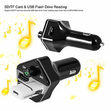Bluetooth Car Kit MP3 Wireless FM/TF Transmitter +2 USB+LCD Charger Handsfree