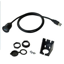 Flush Mount USB Dock Adapter Dashboard Panel 3.0 Port Male to Female Cable 3FT