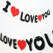 New Style Black and Red Non-woven I LOVE YOU Propose Decoration Wedding