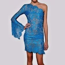 Emilio Pucci One-Shoulder Lace Overlay Dress Electric Blue SOLD OUT  $2500