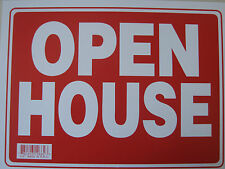 """OPEN HOUSE sign  Plastic Sign OPEN HOUSE...12"""" x 9"""" #12662 new"""